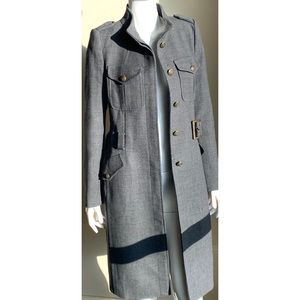 Zara Woman Belted Wool Coat Gray Small NWOT